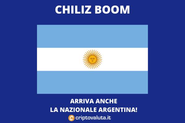Argentina - accordo con Chiliz per i suoi token