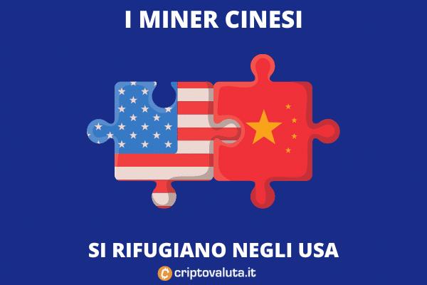 Miner in fuga dalla Cina riparano negli USA - di Criptovaluta.it