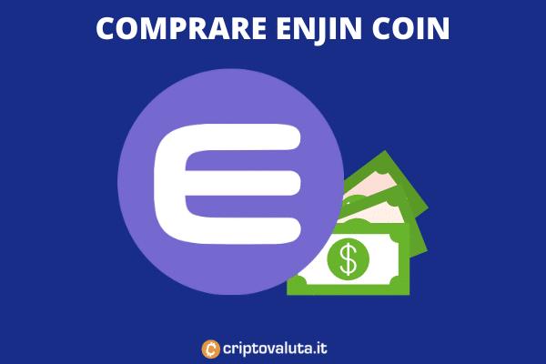 Tutorial completo che spiega come comprare la criptovaluta Enjin Coin - ENJ