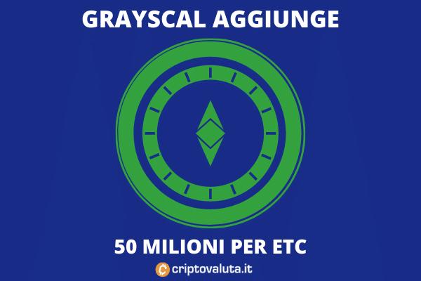 50 milioni investimento Grayscale - di Criptovaluta.it