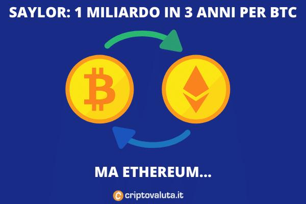 Bitcoin per Saylor, ma pensa anche ad EThereum?