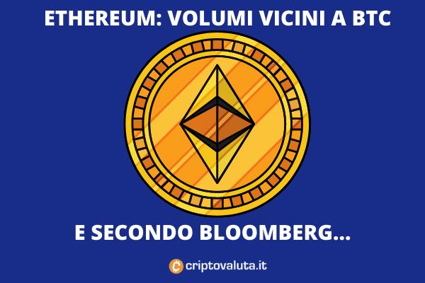 Ethereum volumi rialzo - di Criptovaluta.it