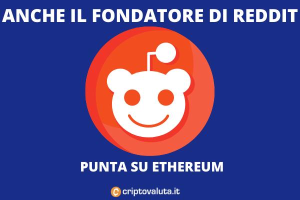 Reddit investimenti in Ethereum - approfondimento di Criptovaluta.it
