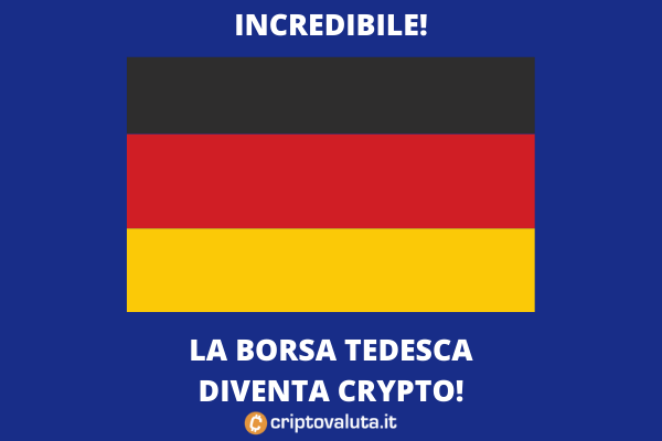 Crypto - la borsa tedesca compra una società dedicata