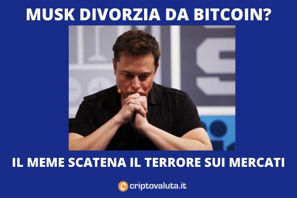 Musk divorzia da BTC: scherzo o chiusura delle posizioni di Tesla?