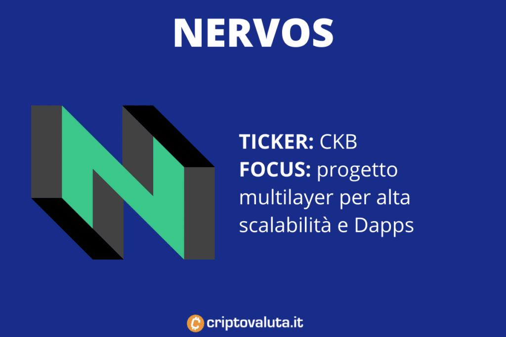 Nervos - scheda riassuntiva di Criptovaluta.it