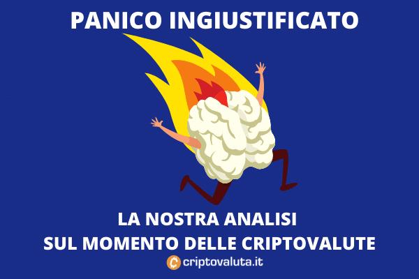 Crollo cripto panico - a cura di Criptovaluta.it