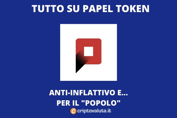 Papel Token - casa di carta - di Criptovaluta.it