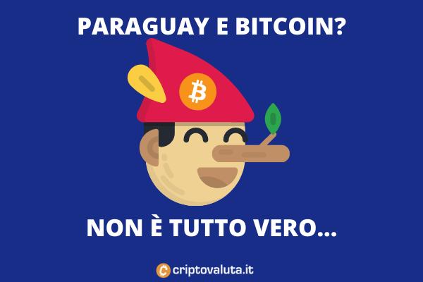Paraguay legge Bitcoin - fake news scoperta da Criptovaluta.it