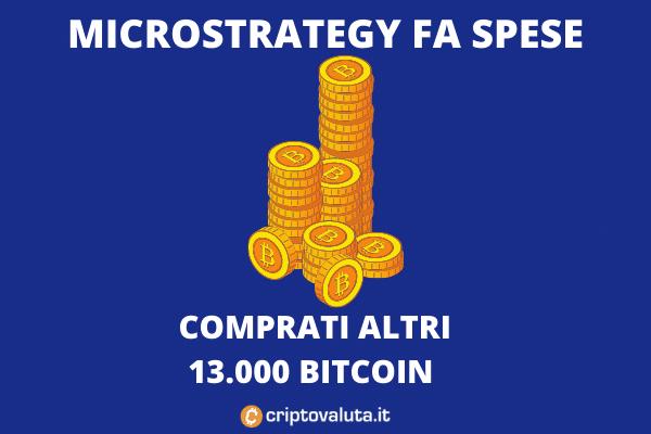 Microstrategy acquisto 13.005 Bitcoin - di Criptovaluta.it