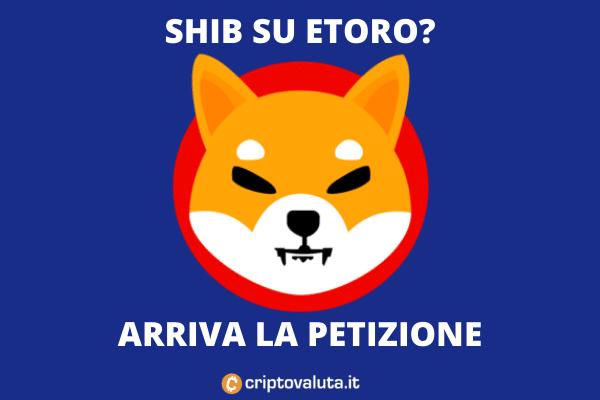 SHIB su eToro - c'è la petizione dei fan