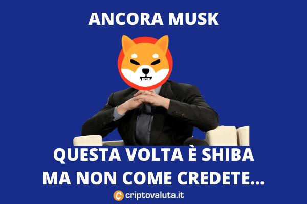 Shiba Token - il tweet di Musk