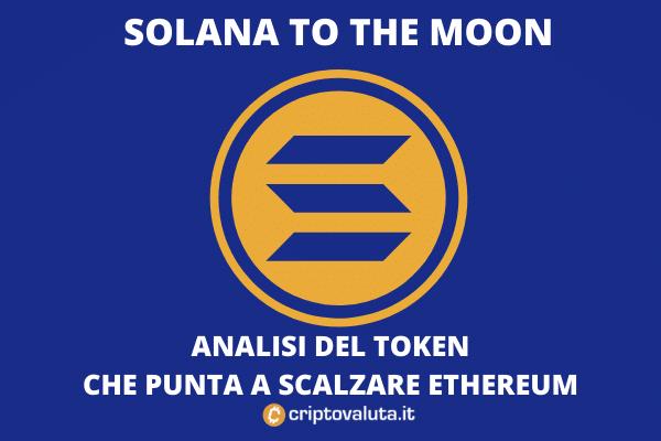 Solana vola e si dirige verso la luna