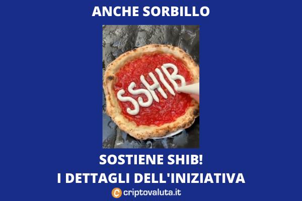 SHIB promozione di Gino Sorbillo - di Criptovaluta.it