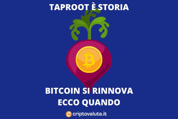 Taproot lockin 12 giugno - di Criptovaluta.it
