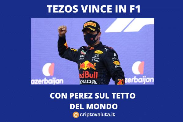 Sponsor F1 Tezos - Perez vince
