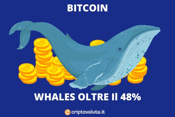 Whales accumulano oltre il 48% del totale - la nostra analisi.