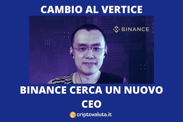 Nuovo CEO per Binance - analisi di Criptovaluta.it