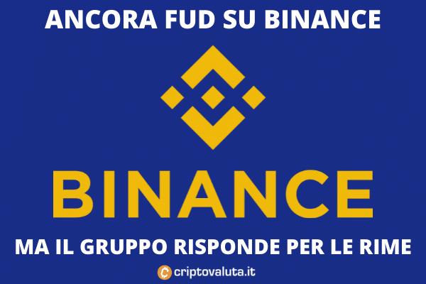 Binance - FUD di Thailandia e Cayman - di Criptovaluta.it