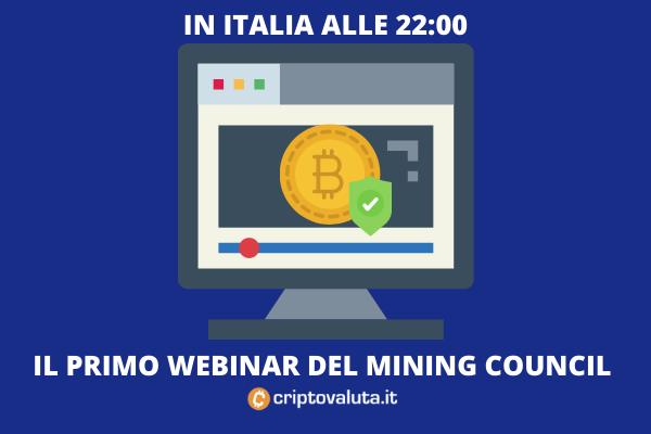 Bitcoin Mining Council - 1 luglio 22:00 il primo webinar in diretta