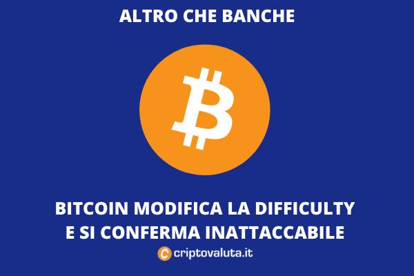 Bitcoin reagisce: giù la difficulty