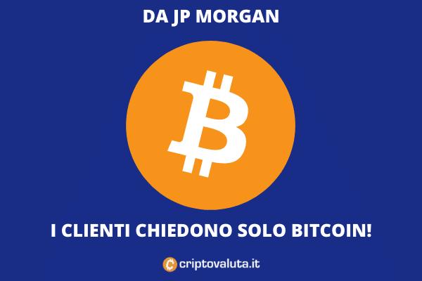 JP Morgan Bitcoin - domanda alle stelle