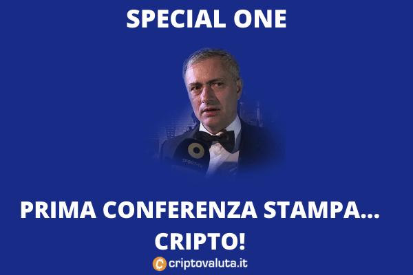 Mourinho - conferenza stampa Chiliz - di Criptovaluta.it