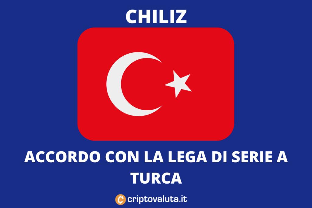 Accordo Chiliz Lega Turca Calcio