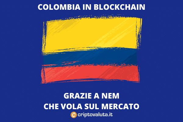 Nem chiude accordo con colombia - tutti i dettagli - da Criptovaluta.it