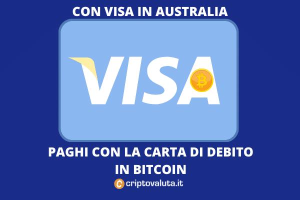 VISA per pagare in Bitcoin e cripto in Australia - di Criptovaluta.it
