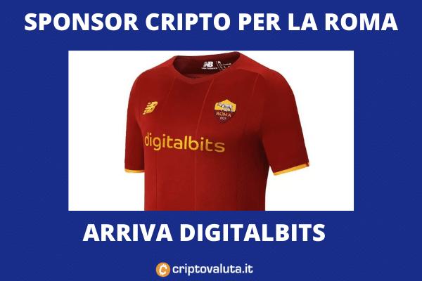 Digitalbits prossimo sponsor maglia roma - di Criptovaluta.it