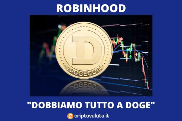 Dogecoin e Robinhood - l'analisi di Criptovaluta.it