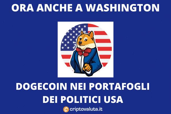 Dogecoin Congresso USA - ecco chi lo ha in portafoglio