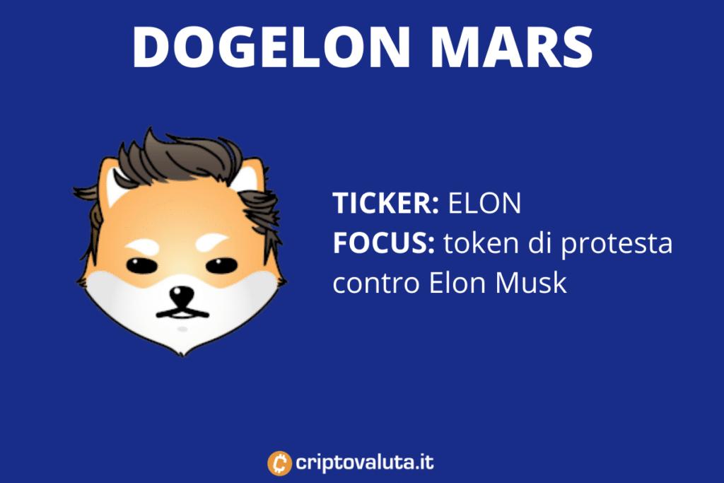 Dogelon Mars - scheda riassuntiva di Criptovaluta.it
