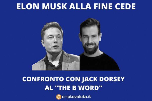 The B Word: confronto tra Elon Musk e Jack Dorsey