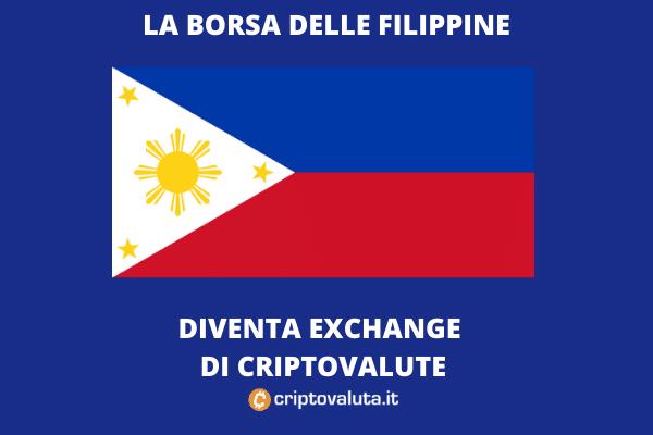 Exchange criptovalute - alle Filippine sarà in borsa