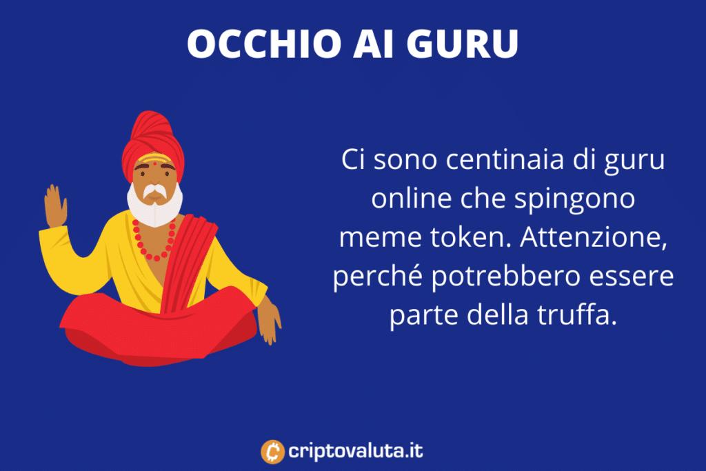 Guru dei meme token - perché evitarli - di Criptovaluta.it