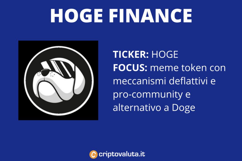 Hoge Finance - Scheda riassuntiva di Criptovaluta.it