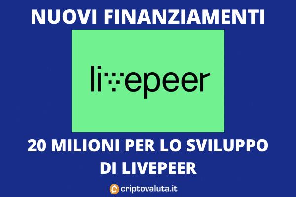 Livepeer boom - investimento 20 milioni dei fondi
