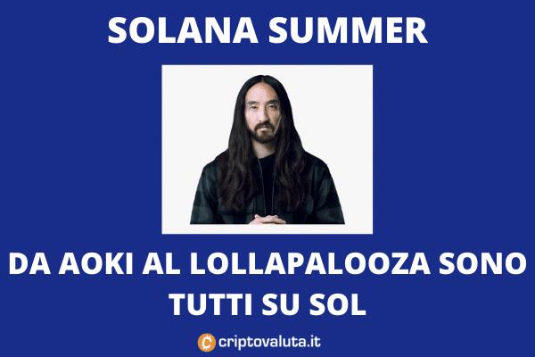 Solana: sponsor al Lollapalooza - e il token vola sui mercati