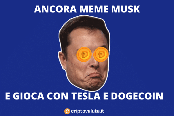 Dogecoin Musk - il meme con Tesla Vision