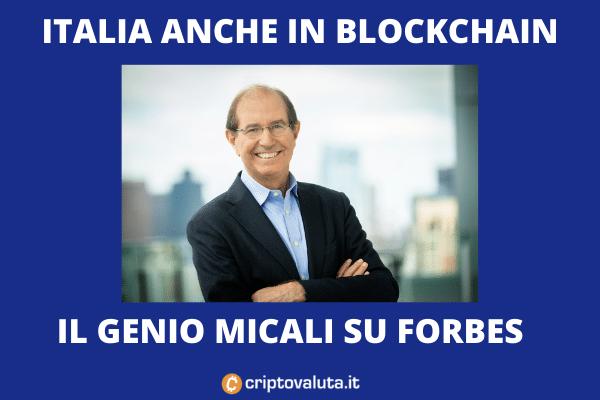 Silvio Micali - intervista su Forbes - l'analisi di Criptovaluta.it