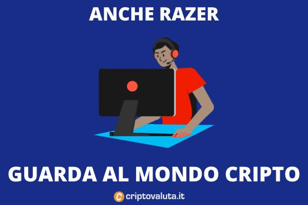 Razer impegno cripto - di Criptovaluta.it
