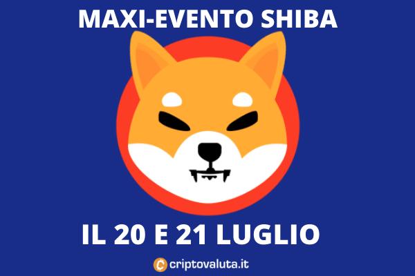 NFT SHIBA evento 20 e 21 luglio