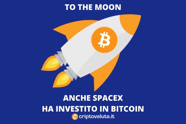 Bitcoin SpaceX investimento - di Criptovaluta.it