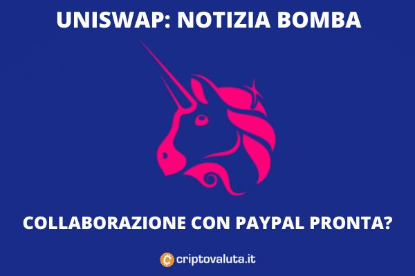 Uniswap in collaborazione con PayPal come AMM