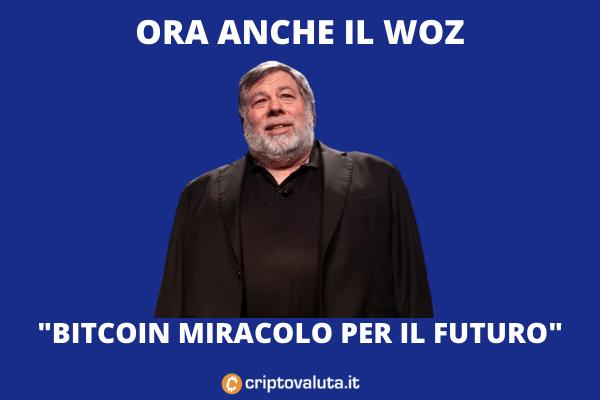 Wozniak: Bitcoin futuro della moneta