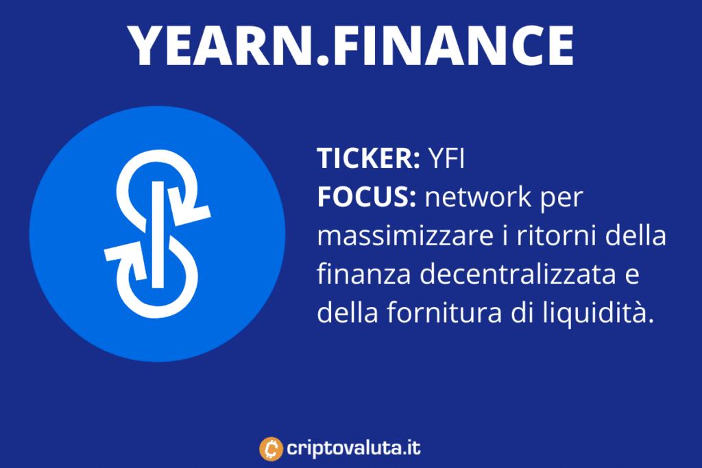 Yearn.Finance - scheda riassuntiva di Criptovaluta.it