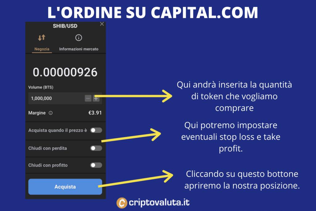 Ordine su Capital.com - infografica di Criptovaluta.it