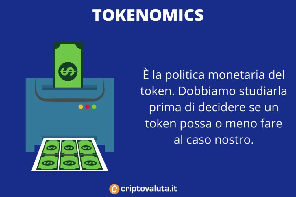 Tokenomics dei meme token - infografica